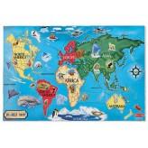 Nowość!Puzzle podłogowe Mapa Świata